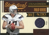 2011 Panini Timeless Treasures Statistical Champions Materials #21 Philip Rivers /100