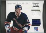 2011/12 Panini Luxury Suite #35 Michael Del Zotto Stick Jersey