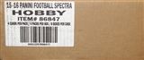 2015 Panini Spectra Football Hobby 8-Box Case
