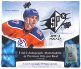 2015/16 Upper Deck SPx Hockey Hobby Box (McDavid RC!)