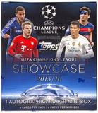 2016 Topps UEFA Champions League Showcase Soccer Hobby Mini-Box