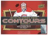 2015/16 Upper Deck Contours Hockey Hobby Box (PLUS 2016 UD World Cup Packs!)