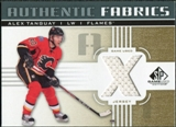 2011/12 Upper Deck SP Game Used Authentic Fabrics Gold #AFAT4 Alex Tanguay X C