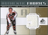 2011/12 Upper Deck SP Game Used Authentic Fabrics Gold #AFBH3 Brett Hull 9 D