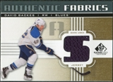 2011/12 Upper Deck SP Game Used Authentic Fabrics Gold #AFBK3 David Backes S C
