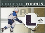 2011/12 Upper Deck SP Game Used Authentic Fabrics Gold #AFBK2 David Backes L C