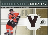 2011/12 Upper Deck SP Game Used Authentic Fabrics Gold #AFBR4 Daniel Briere Y C