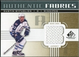 2011/12 Upper Deck SP Game Used Authentic Fabrics Gold #AFBY1 Dustin Byfuglien B C