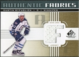 2011/12 Upper Deck SP Game Used Authentic Fabrics Gold #AFBY2 Dustin Byfuglien F C