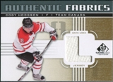 2011/12 Upper Deck SP Game Used Authentic Fabrics Gold #AFCH3 Cody Hodgson L C