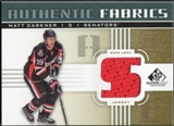 2011/12 Upper Deck SP Game Used Authentic Fabrics Gold #AFCK4 Matt Carkner S D