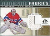 2011/12 Upper Deck SP Game Used Authentic Fabrics Gold #AFCP2 Carey Price L C