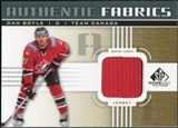 2011/12 Upper Deck SP Game Used Authentic Fabrics Gold #AFDB4 Dan Boyle O C