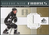 2011/12 Upper Deck SP Game Used Authentic Fabrics Gold #AFDD4 Drew Doughty L D