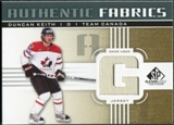 2011/12 Upper Deck SP Game Used Authentic Fabrics Gold #AFDK2 Duncan Keith G B