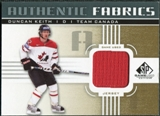 2011/12 Upper Deck SP Game Used Authentic Fabrics Gold #AFDK4 Duncan Keith O C