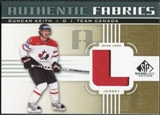 2011/12 Upper Deck SP Game Used Authentic Fabrics Gold #AFDK3 Duncan Keith L C