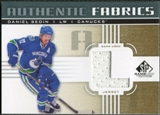 2011/12 Upper Deck SP Game Used Authentic Fabrics Gold #AFDS2 Daniel Sedin L D