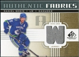 2011/12 Upper Deck SP Game Used Authentic Fabrics Gold #AFDS3 Daniel Sedin W D