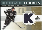 2011/12 Upper Deck SP Game Used Authentic Fabrics Gold #AFDU3 Dustin Penner K D