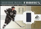 2011/12 Upper Deck SP Game Used Authentic Fabrics Gold #AFDU2 Dustin Penner I D