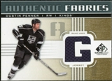 2011/12 Upper Deck SP Game Used Authentic Fabrics Gold #AFDU1 Dustin Penner G C