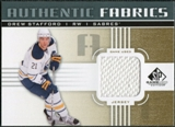 2011/12 Upper Deck SP Game Used Authentic Fabrics Gold #AFDW1 Drew Stafford D C