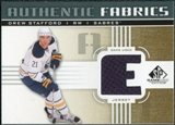 2011/12 Upper Deck SP Game Used Authentic Fabrics Gold #AFDW2 Drew Stafford E C
