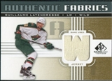 2011/12 Upper Deck SP Game Used Authentic Fabrics Gold #AFGL4 Guillaume Latendresse W C
