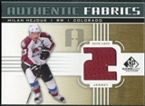2011/12 Upper Deck SP Game Used Authentic Fabrics Gold #AFHE1 Milan Hejduk 2 C