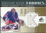2011/12 Upper Deck SP Game Used Authentic Fabrics Gold #AFHL3 Henrik Lundqvist K C