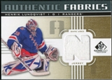 2011/12 Upper Deck SP Game Used Authentic Fabrics Gold #AFHL4 Henrik Lundqvist N C