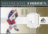 2011/12 Upper Deck SP Game Used Authentic Fabrics Gold #AFJC3 Jeff Carter J D