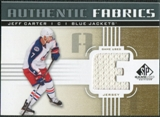 2011/12 Upper Deck SP Game Used Authentic Fabrics Gold #AFJC1 Jeff Carter E D