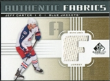 2011/12 Upper Deck SP Game Used Authentic Fabrics Gold #AFJC2 Jeff Carter F C