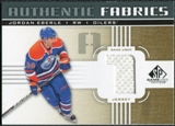 2011/12 Upper Deck SP Game Used Authentic Fabrics Gold #AFJE1 Jordan Eberle 1 C