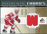 2011/12 Upper Deck SP Game Used Authentic Fabrics Gold #AFJF4 Johan Franzen W D
