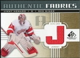 2011/12 Upper Deck SP Game Used Authentic Fabrics Gold #AFJH3 Jim Howard J D