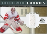 2011/12 Upper Deck SP Game Used Authentic Fabrics Gold #AFJH2 Jim Howard I D