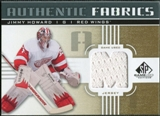 2011/12 Upper Deck SP Game Used Authentic Fabrics Gold #AFJH4 Jim Howard M C