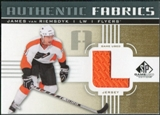 2011/12 Upper Deck SP Game Used Authentic Fabrics Gold #AFJV2 James van Riemsdyk L D