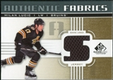 2011/12 Upper Deck SP Game Used Authentic Fabrics Gold #AFLU3 Milan Lucic S D