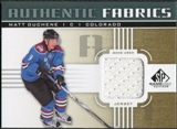 2011/12 Upper Deck SP Game Used Authentic Fabrics Gold #AFMD3 Matt Duchene D D