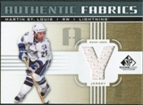 2011/12 Upper Deck SP Game Used Authentic Fabrics Gold #AFMS4 Martin St. Louis Y C