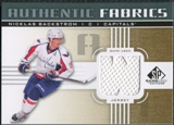 2011/12 Upper Deck SP Game Used Authentic Fabrics Gold #AFNB4 Nicklas Backstrom W D