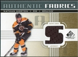 2011/12 Upper Deck SP Game Used Authentic Fabrics Gold #AFNH3 Nathan Horton S C