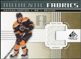 2011/12 Upper Deck SP Game Used Authentic Fabrics Gold #AFNH1 Nathan Horton C C