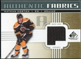 2011/12 Upper Deck SP Game Used Authentic Fabrics Gold #AFNH2 Nathan Horton P D