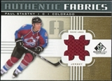 2011/12 Upper Deck SP Game Used Authentic Fabrics Gold #AFPA1 Paul Stastny # C