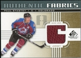 2011/12 Upper Deck SP Game Used Authentic Fabrics Gold #AFPA3 Paul Stastny 6 C
